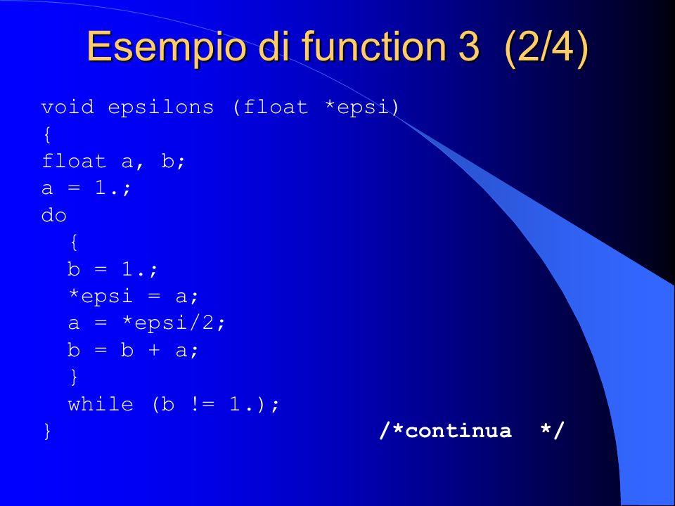 Esempio di function 3 (2/4)