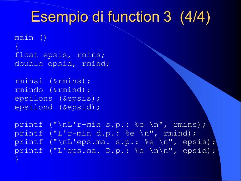 Esempio di function 3 (4/4)