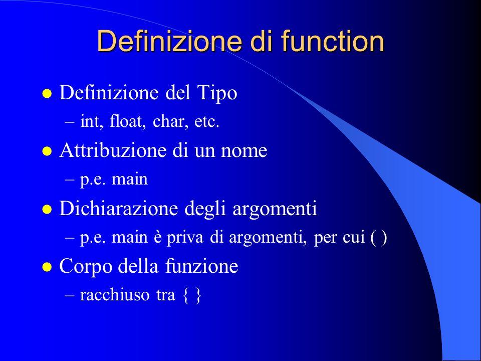 Definizione di function
