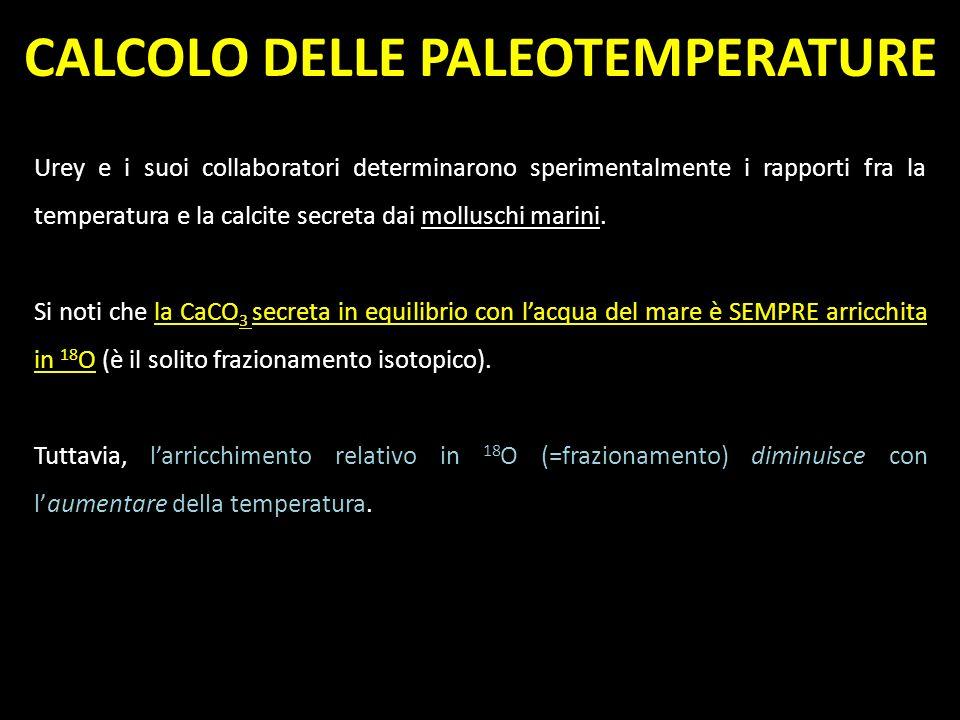 CALCOLO DELLE PALEOTEMPERATURE