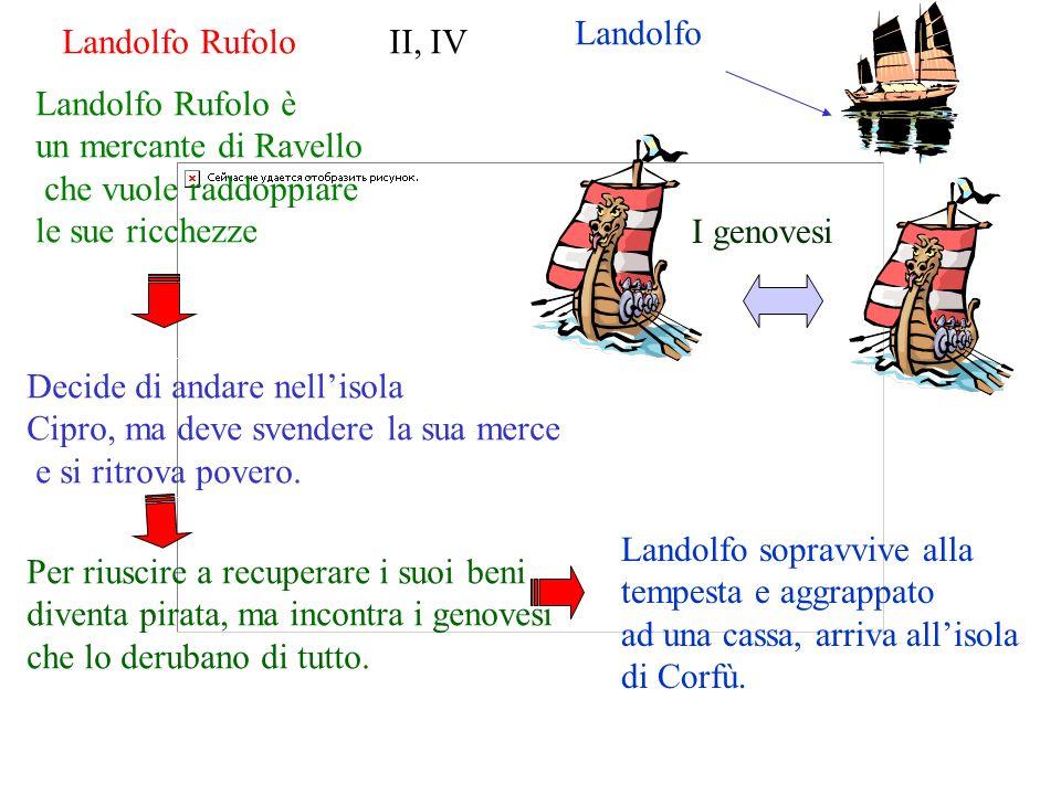 Landolfo Landolfo Rufolo II, IV. Landolfo Rufolo è. un mercante di Ravello. che vuole raddoppiare.