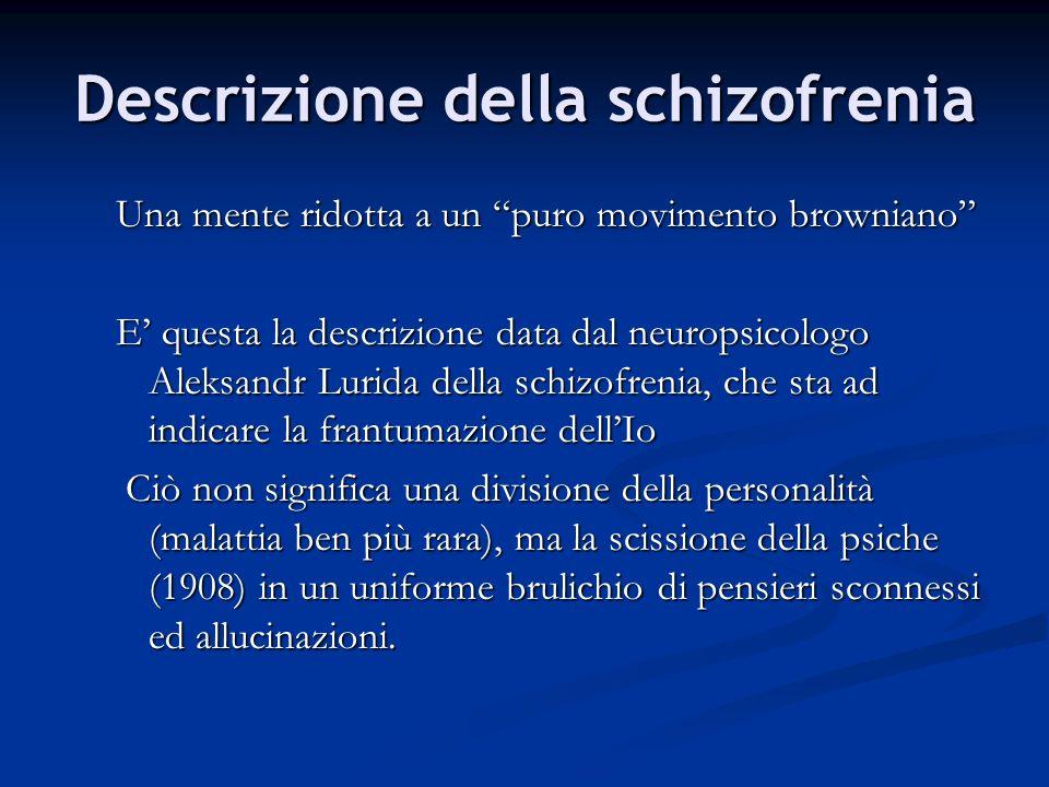 Descrizione della schizofrenia