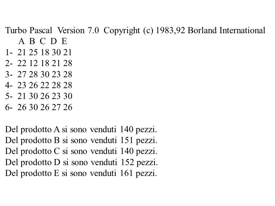 Turbo Pascal Version 7.0 Copyright (c) 1983,92 Borland International