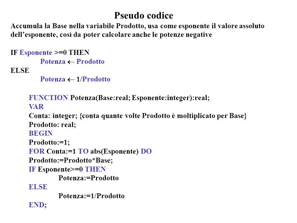 Pseudo codice