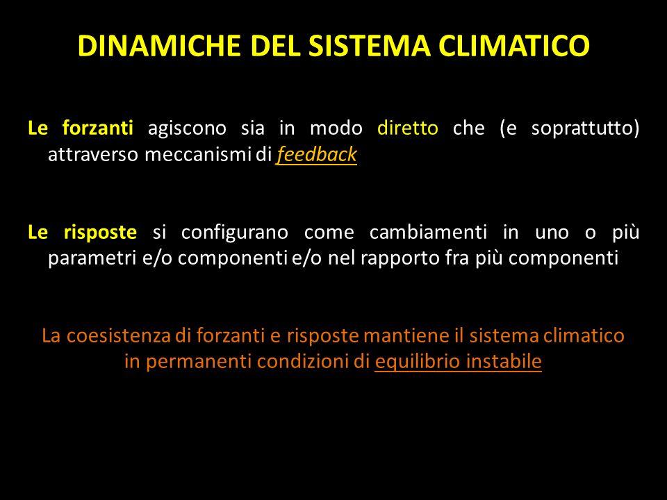 DINAMICHE DEL SISTEMA CLIMATICO