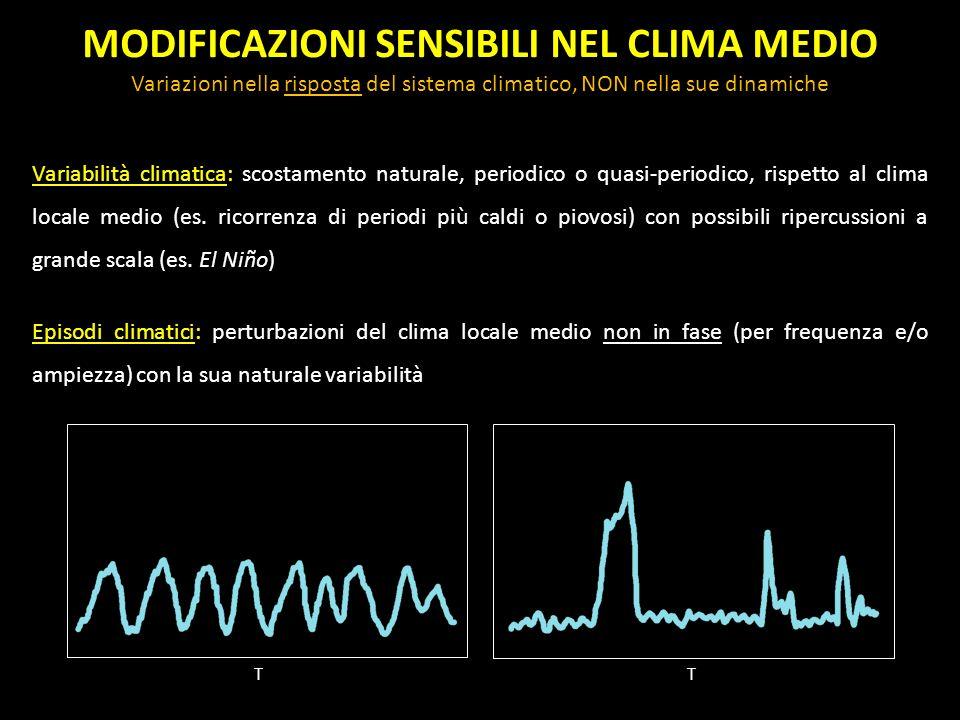 MODIFICAZIONI SENSIBILI NEL CLIMA MEDIO