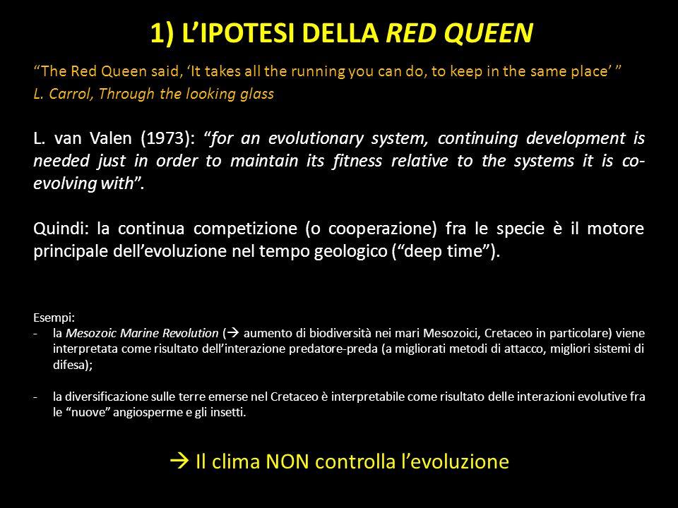 1) L'IPOTESI DELLA RED QUEEN