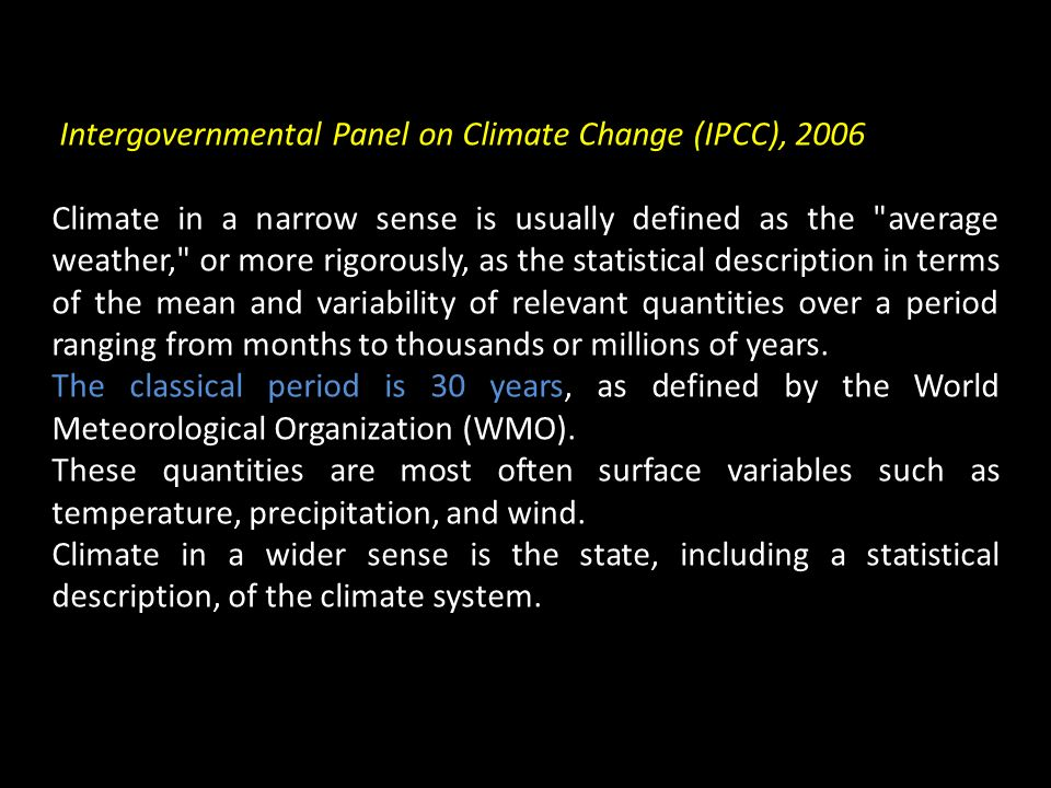 Intergovernmental Panel on Climate Change (IPCC), 2006