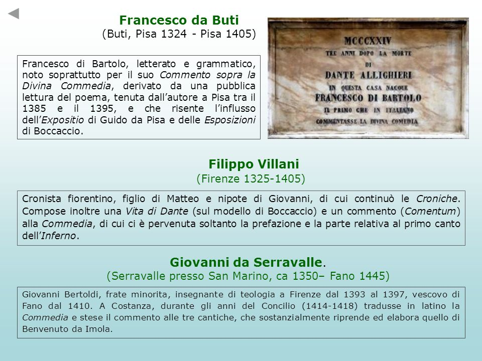 Francesco da Buti Filippo Villani