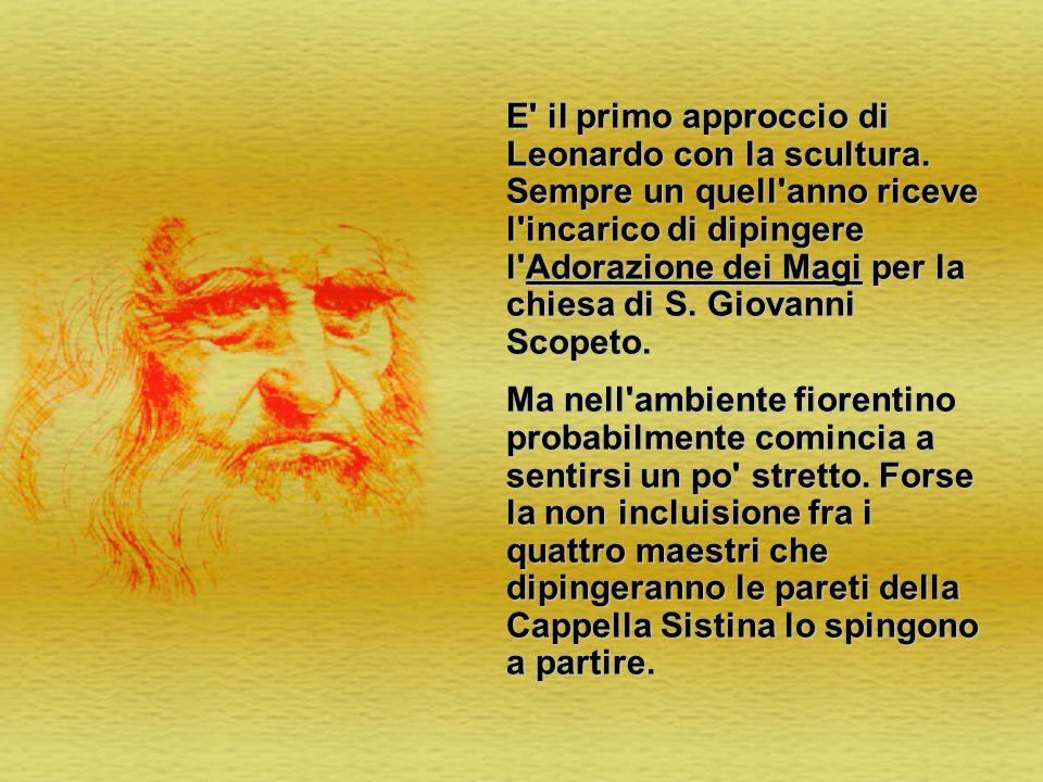 E il primo approccio di Leonardo con la scultura