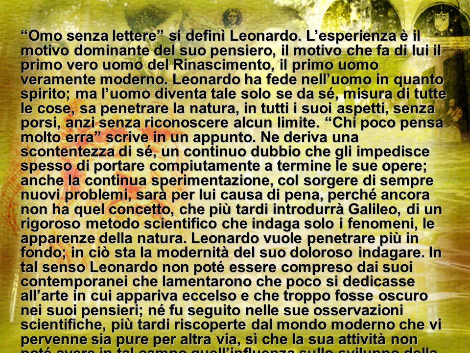 Omo senza lettere si definì Leonardo