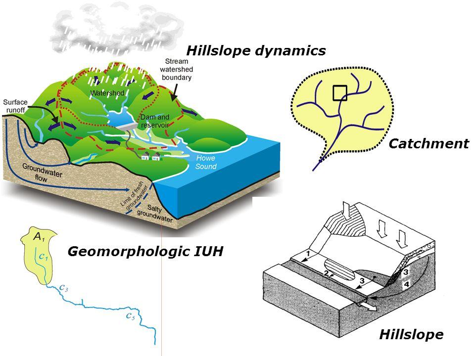 Hillslope dynamics Catchment Geomorphologic IUH Hillslope