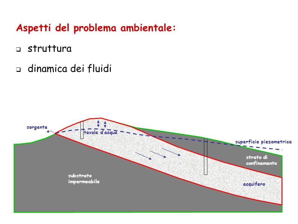 Aspetti del problema ambientale: struttura dinamica dei fluidi
