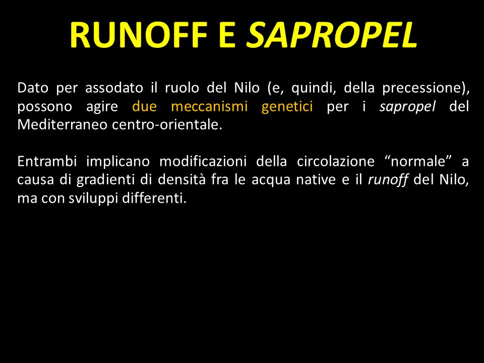 RUNOFF E SAPROPEL