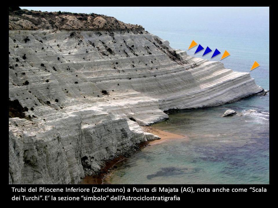 Trubi del Pliocene Inferiore (Zancleano) a Punta di Majata (AG), nota anche come Scala dei Turchi .