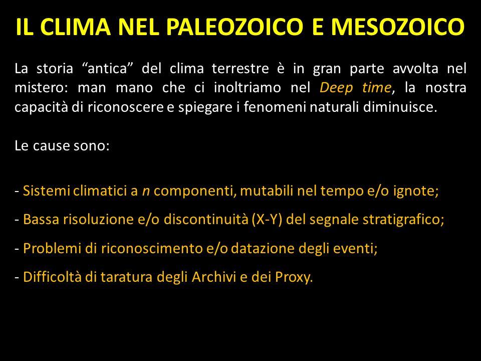 IL CLIMA NEL PALEOZOICO E MESOZOICO