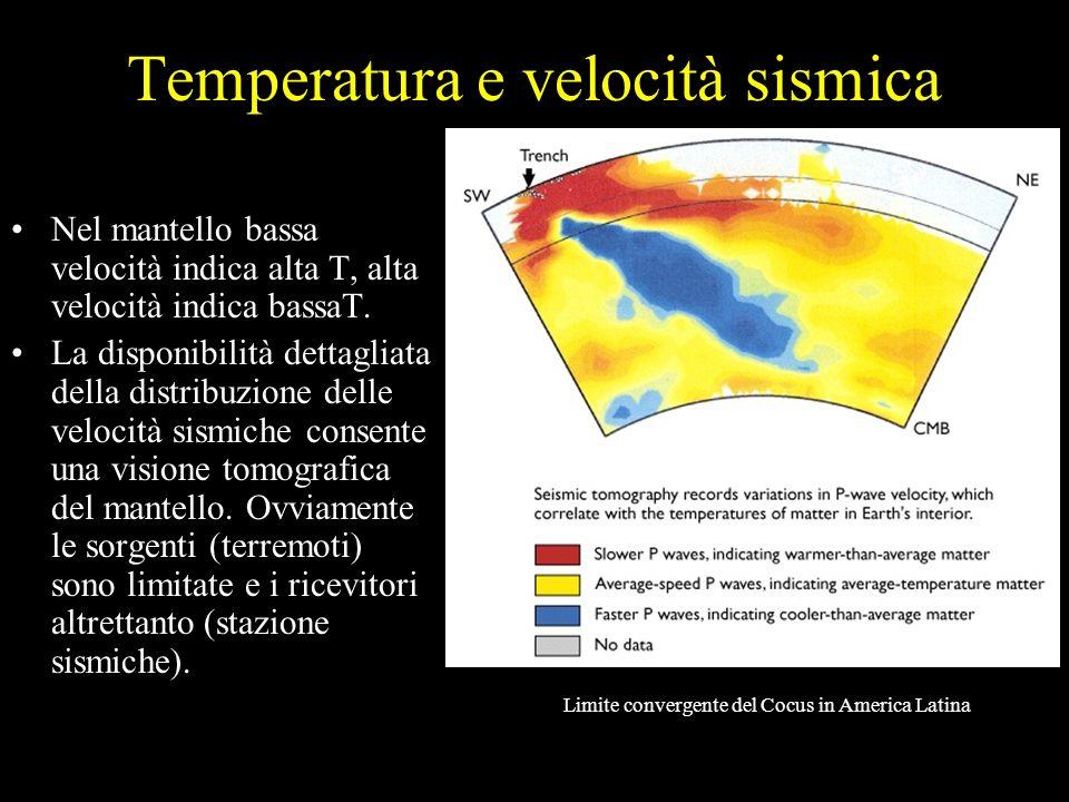 Temperatura e velocità sismica