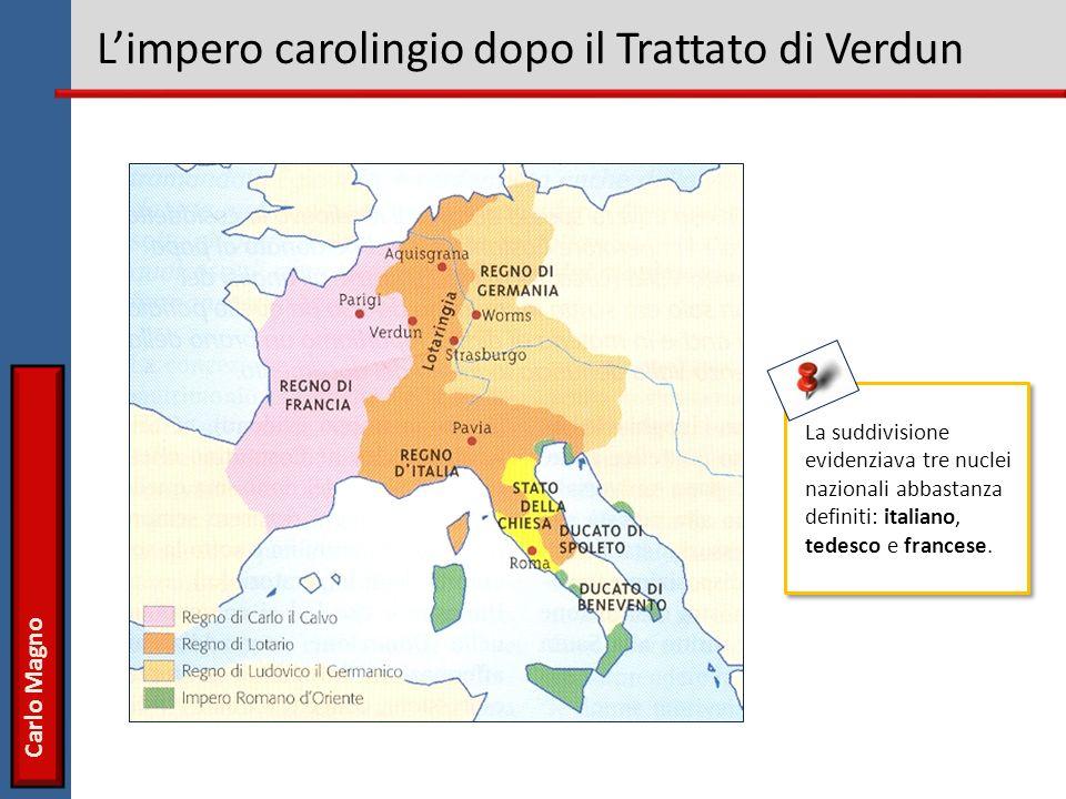 L'impero carolingio dopo il Trattato di Verdun