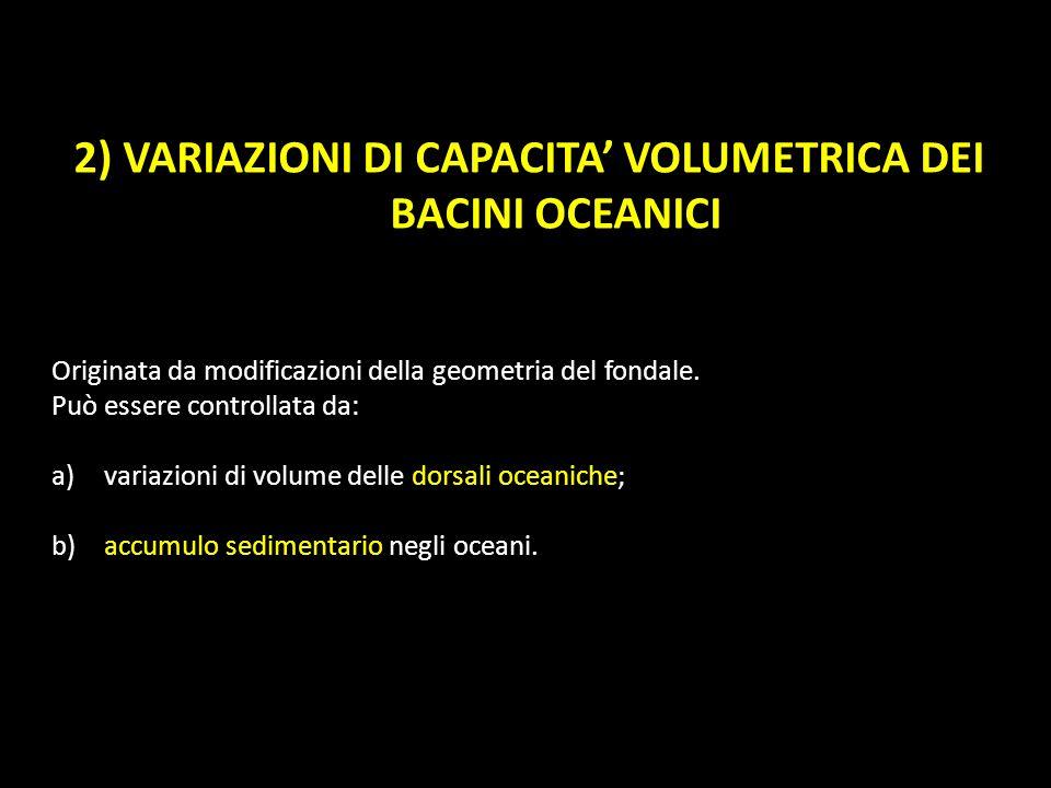 2) VARIAZIONI DI CAPACITA' VOLUMETRICA DEI BACINI OCEANICI