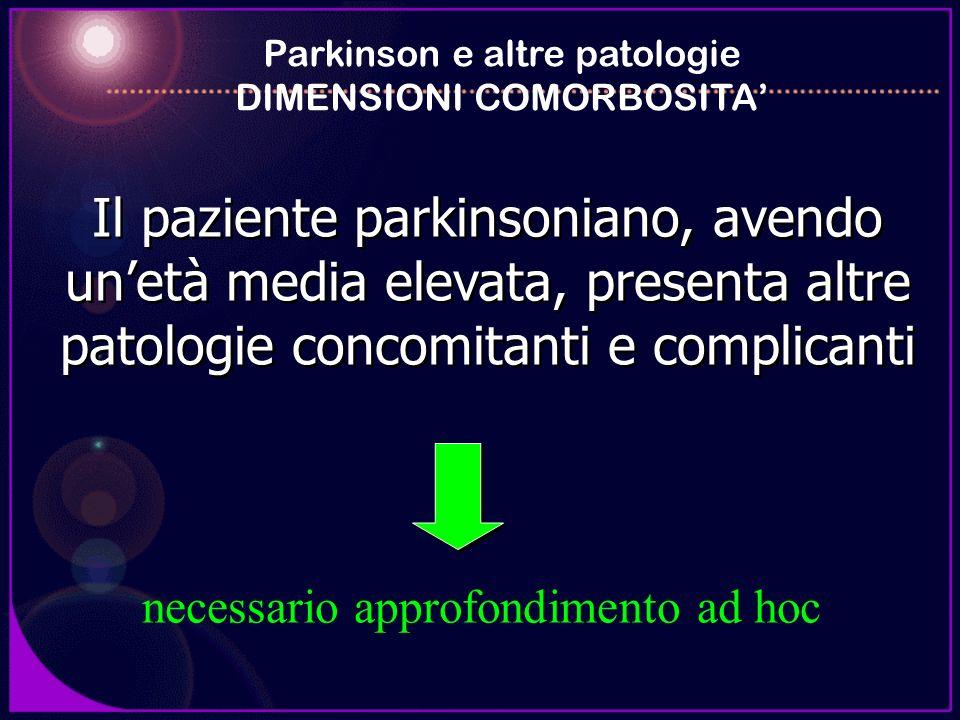 Parkinson e altre patologie DIMENSIONI COMORBOSITA'