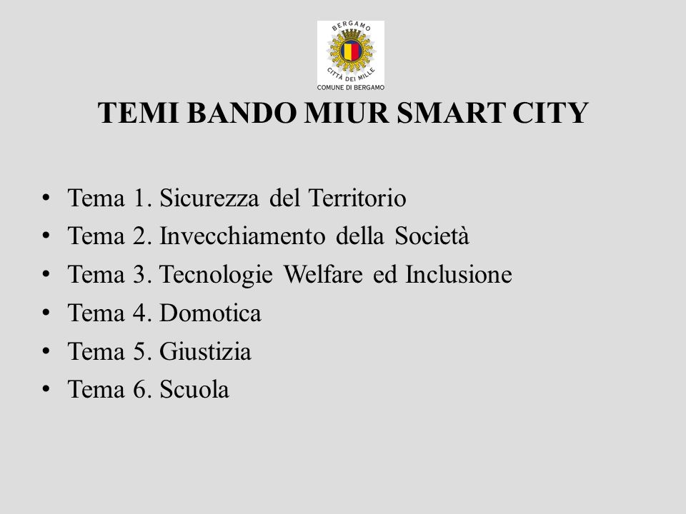 TEMI BANDO MIUR SMART CITY