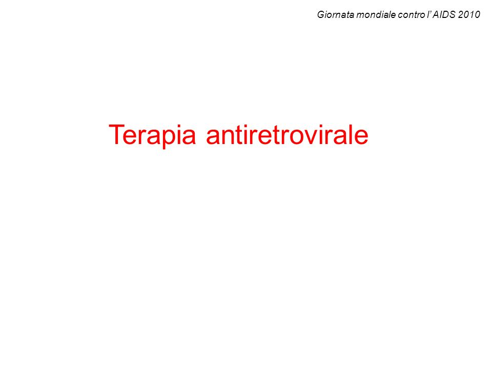 Terapia antiretrovirale