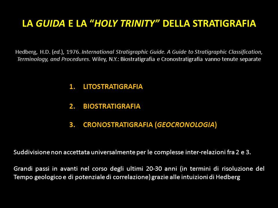 LA GUIDA E LA HOLY TRINITY DELLA STRATIGRAFIA