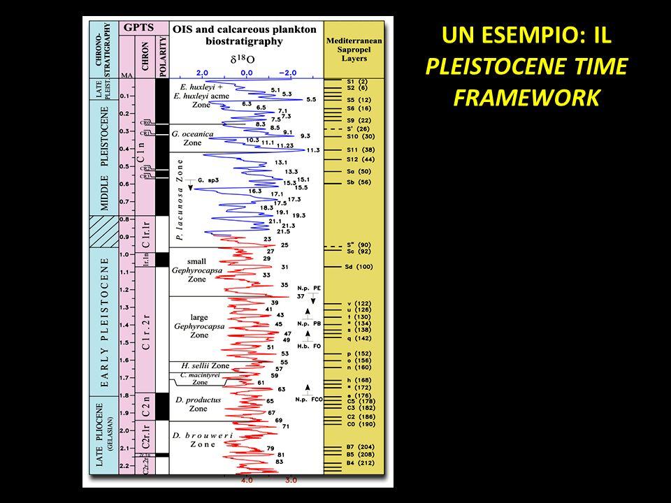 UN ESEMPIO: IL PLEISTOCENE TIME FRAMEWORK