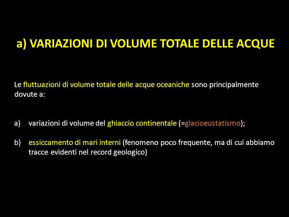 a) VARIAZIONI DI VOLUME TOTALE DELLE ACQUE