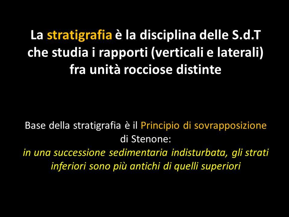 Base della stratigrafia è il Principio di sovrapposizione di Stenone: