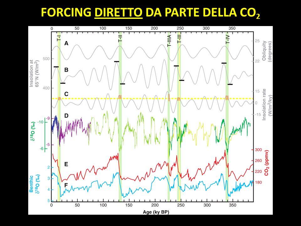 FORCING DIRETTO DA PARTE DELLA CO2