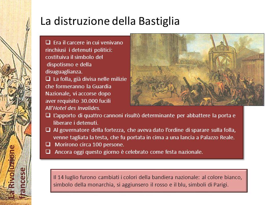 La distruzione della Bastiglia