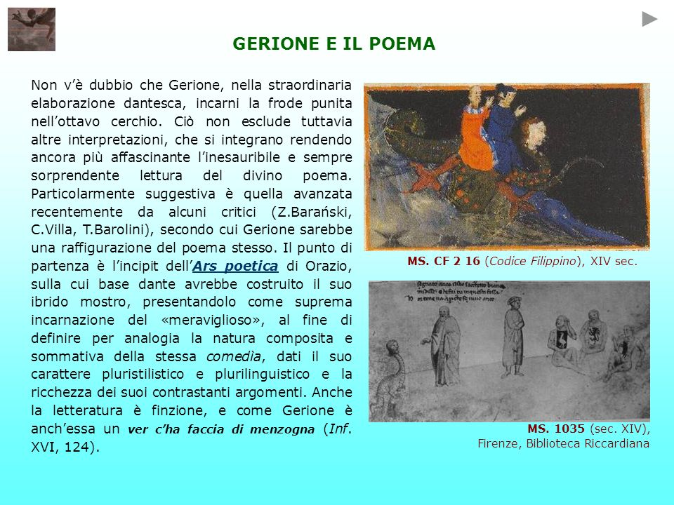 GERIONE E IL POEMA