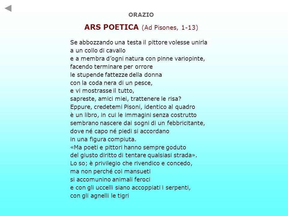 ARS POETICA (Ad Pisones, 1-13)
