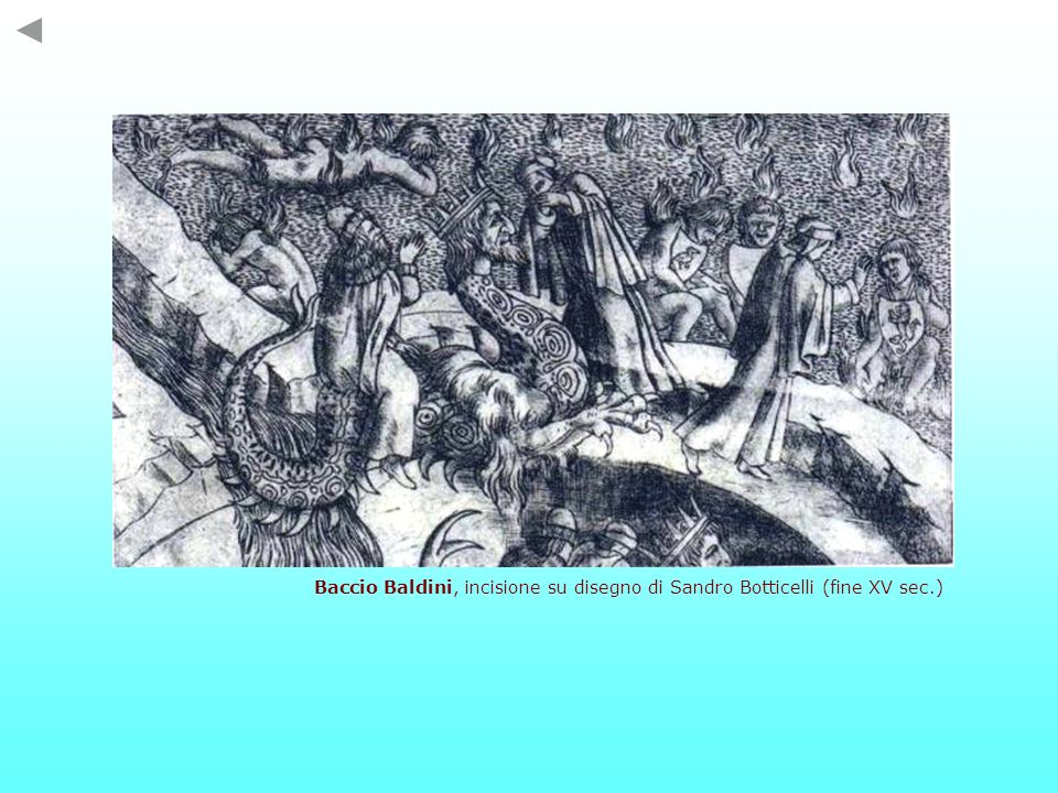 Baccio Baldini, incisione su disegno di Sandro Botticelli (fine XV sec