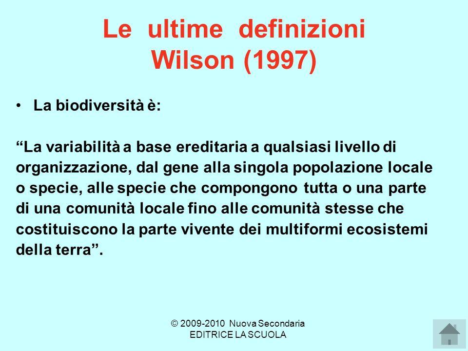 Le ultime definizioni Wilson (1997)