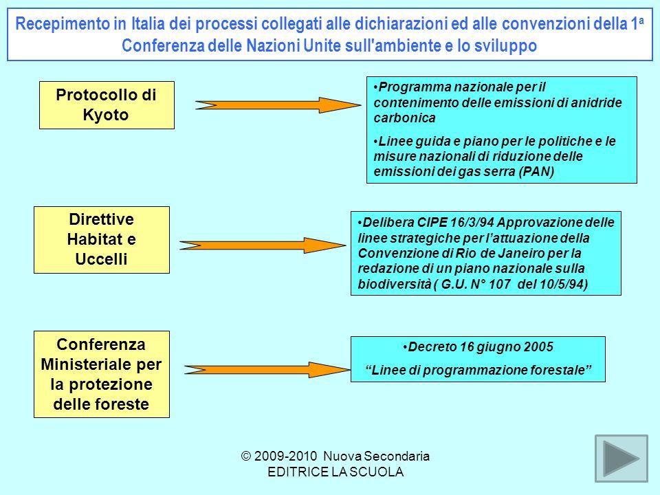 Recepimento in Italia dei processi collegati alle dichiarazioni ed alle convenzioni della 1a Conferenza delle Nazioni Unite sull ambiente e lo sviluppo