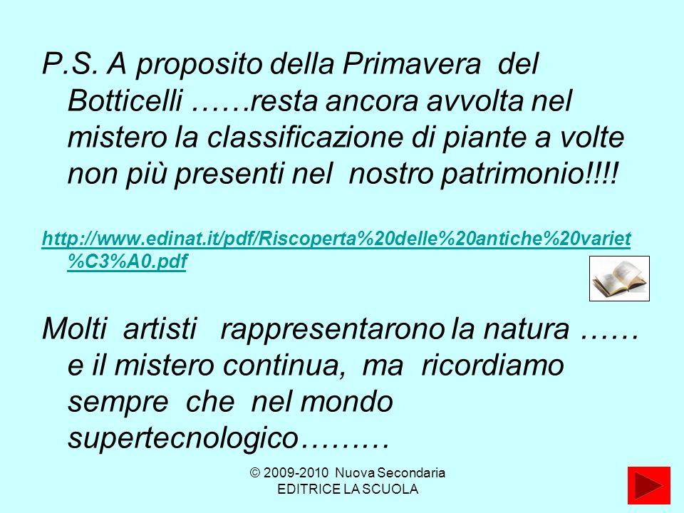 © 2009-2010 Nuova Secondaria EDITRICE LA SCUOLA