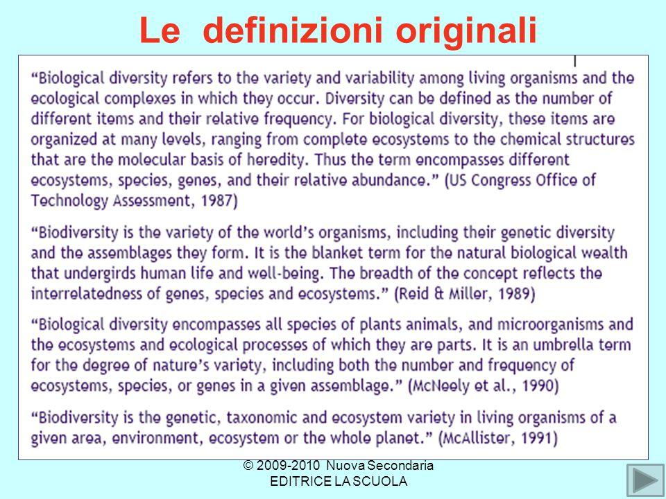 Le definizioni originali