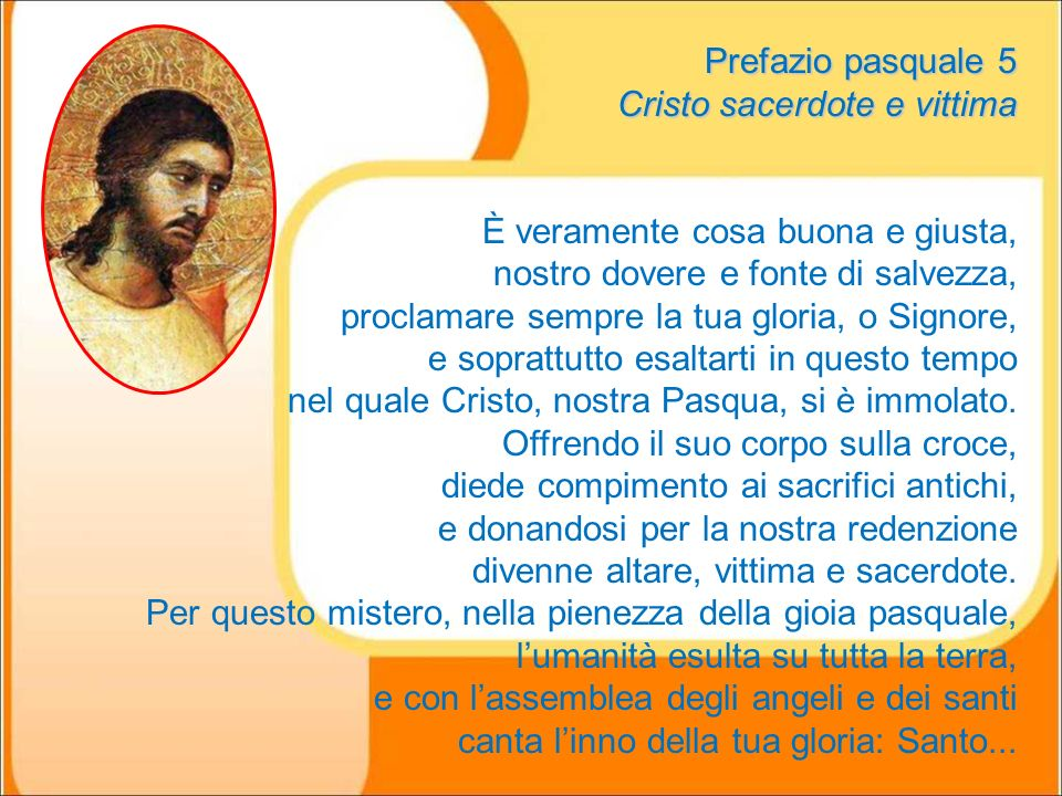 Prefazio pasquale 5 Cristo sacerdote e vittima