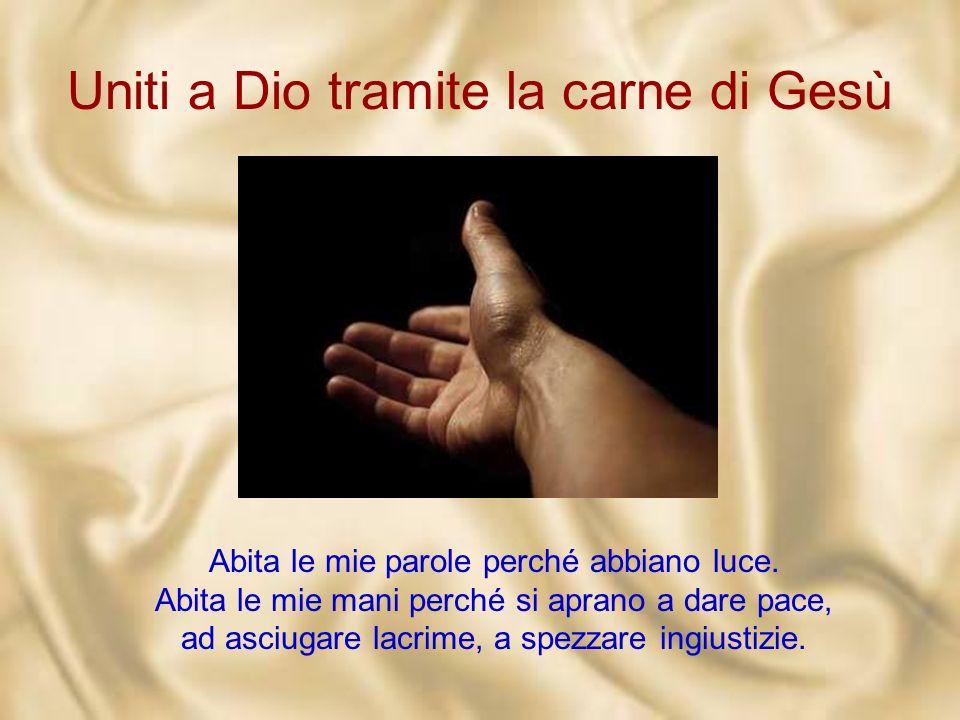 Uniti a Dio tramite la carne di Gesù