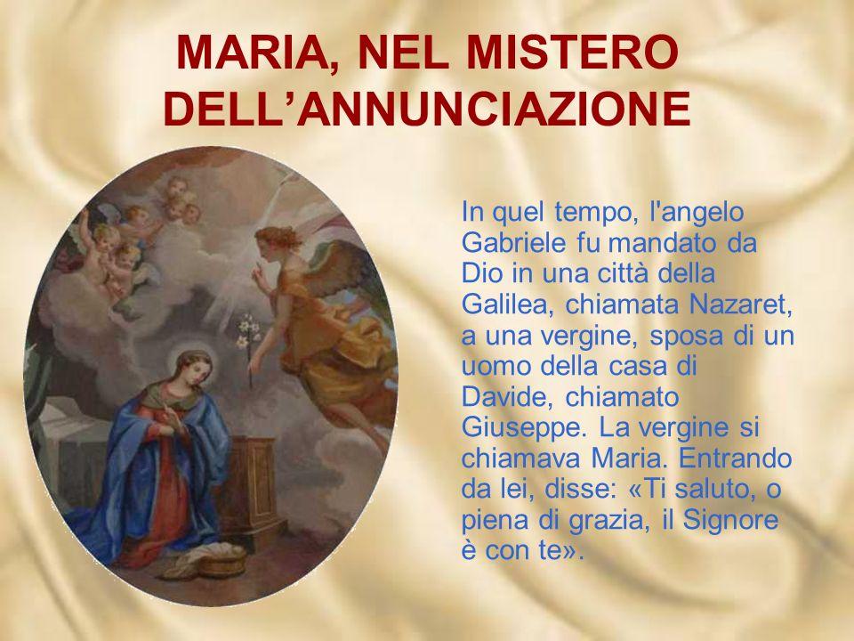 MARIA, NEL MISTERO DELL'ANNUNCIAZIONE