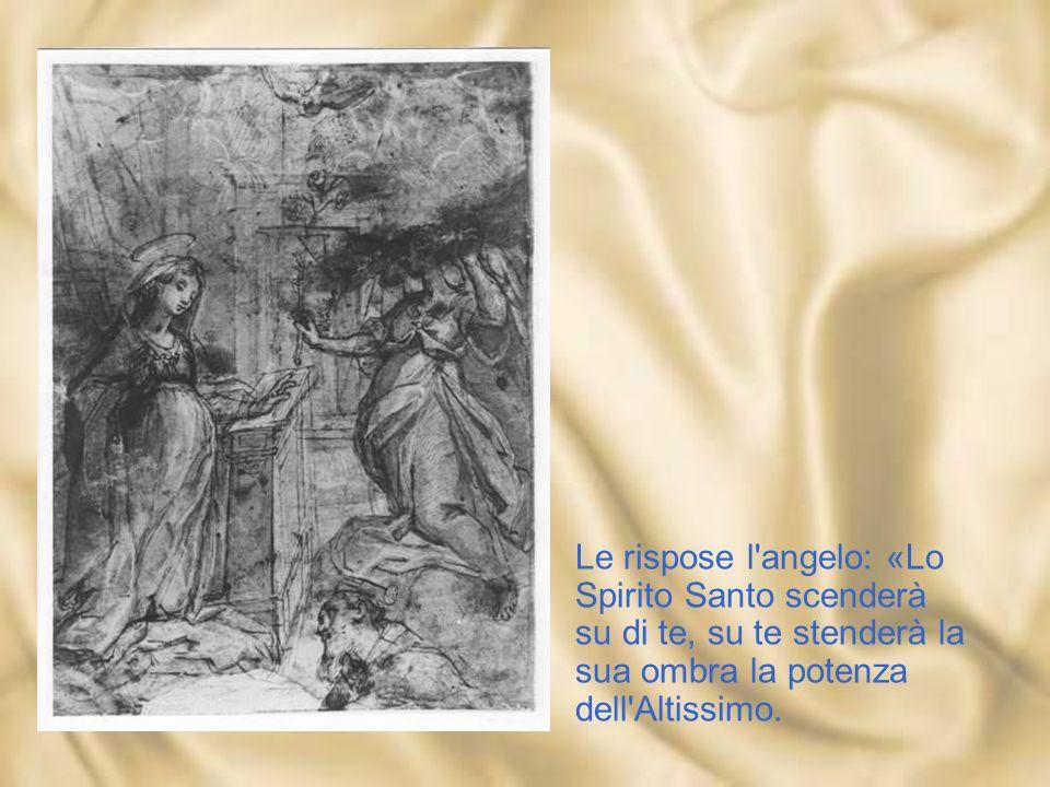 Le rispose l angelo: «Lo Spirito Santo scenderà su di te, su te stenderà la sua ombra la potenza dell Altissimo.