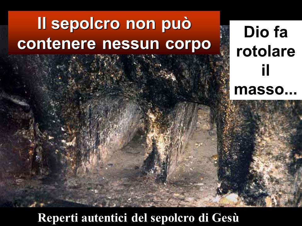 Il sepolcro non può contenere nessun corpo Dio fa rotolare il masso...
