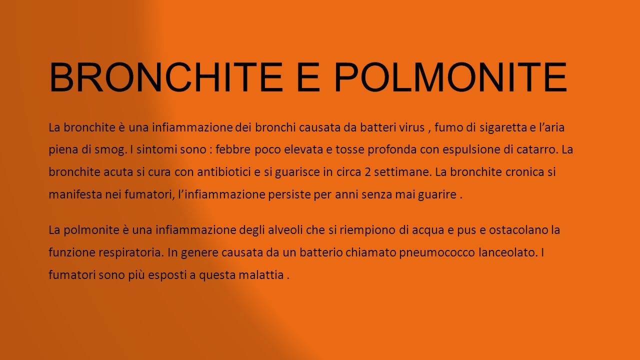 BRONCHITE E POLMONITE