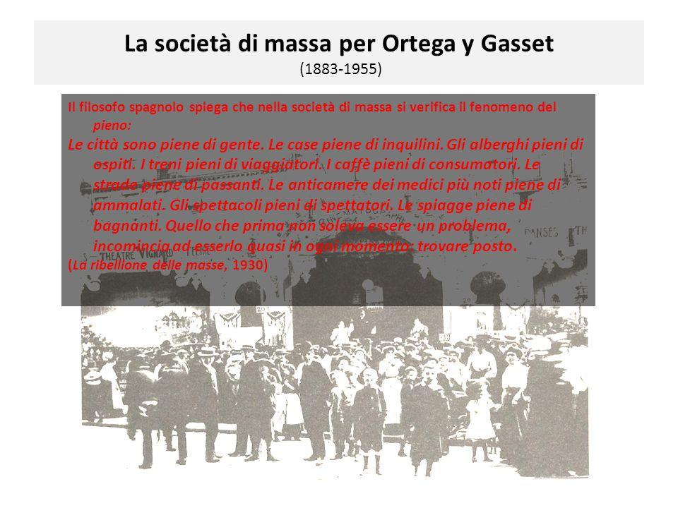 La società di massa per Ortega y Gasset (1883-1955)