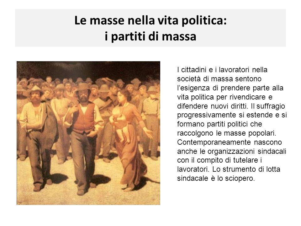 Le masse nella vita politica: i partiti di massa