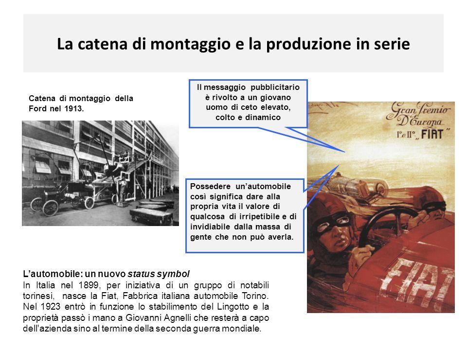 La catena di montaggio e la produzione in serie