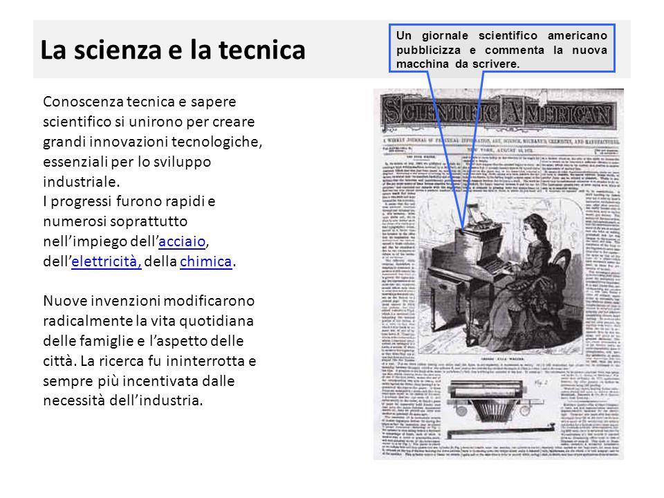 La scienza e la tecnica Un giornale scientifico americano pubblicizza e commenta la nuova macchina da scrivere.