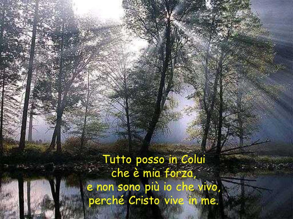 e non sono più io che vivo, perché Cristo vive in me.